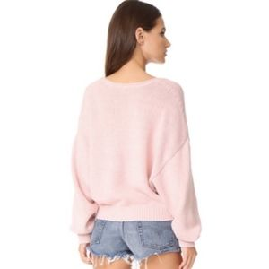 Free People Sweaters - Free People Perfect Day Sweater in Rose Pink